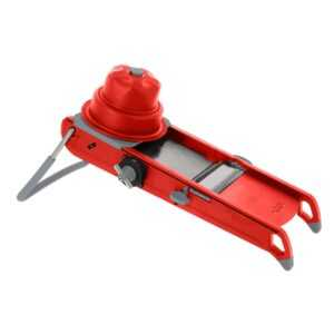 de Buyer Mandoline Swing Plus rot mit horizontaler Doppelklinge und Julienne-Doppelklinge